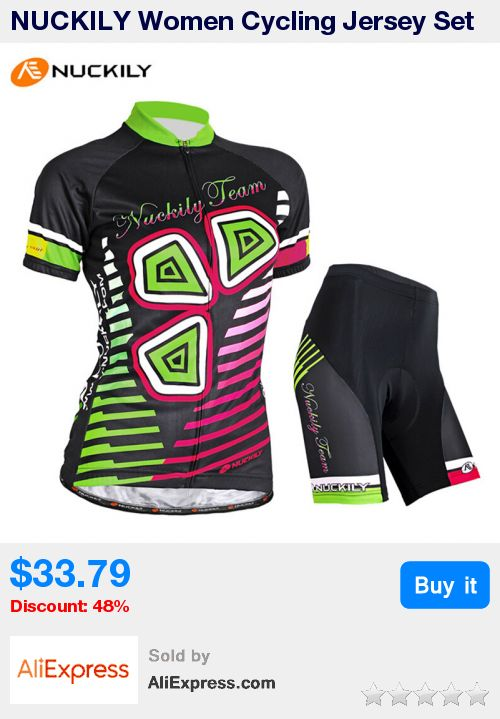 NUCKILY Women Cycling Jersey Set Breathable Short-sleeve T-shirt 3D Gel Padded Shorts Pro Team Sport MTB Bike Bicycle Clothing * Pub Date: 01:51 Jul 4 2017
