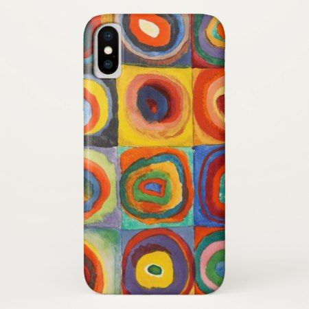 Squares with Concentric Circles by Kandinsky iPhone X Case - click to get yours right now!