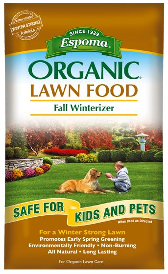 Espoma Organic lawn food fall winterizer is perfect for keeping your lawn  strong this winter.
