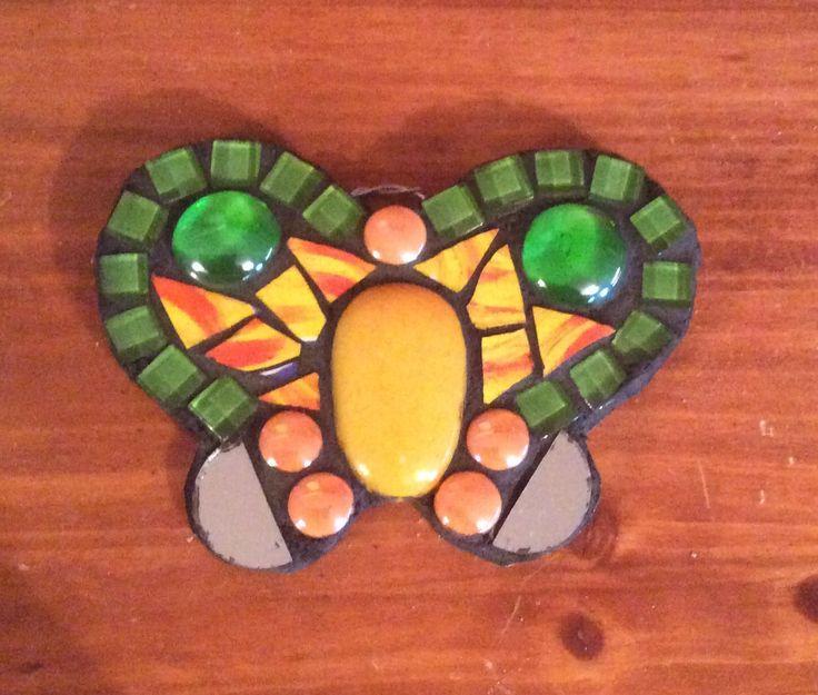 Bu0027fly Using Some Plate. Mosaic GardenGarden StonesPlate