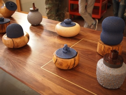 Alma AllenSculptor Alma, Alma Allen, Wood Sculpture, Walnut Dining, Dining Tables, Bronze Inlay
