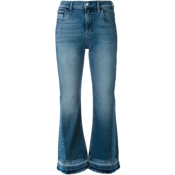 Ck Jeans fringe hem jeans ($73) ❤ liked on Polyvore featuring jeans, blue, blue jeans, calvin klein jeans and fringe hem jeans