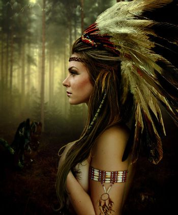 2016 TOP ART  --American Native American Indian WOMAN Decor ART-  100% HANDPAINTED ART OIL painting--free shipping cost