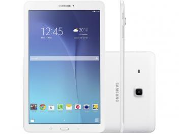 "Tablet Samsung Galaxy Tab E 8GB 9,6"" Wi-Fi - Android 4.4 Quad-Core Câm. 5MP + Frontal 2MP GPS"