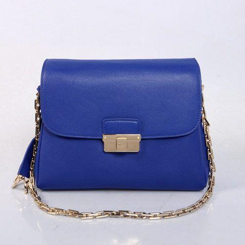 "Christian Dior ""Diorling"" Bag in Bule Calf Leather 17019  size:29X10X21cm"