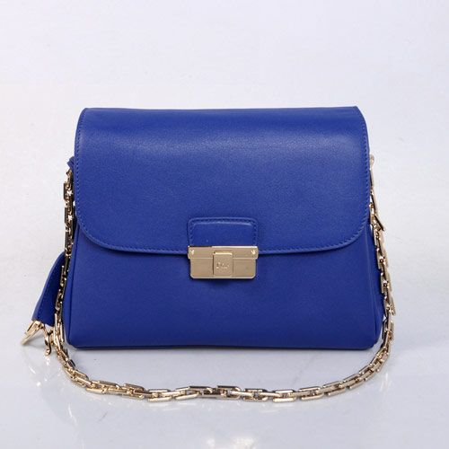 "Christian Dior ""Diorling"" Bag in Bule Calf Leather 17019  size:29X10X21cm"