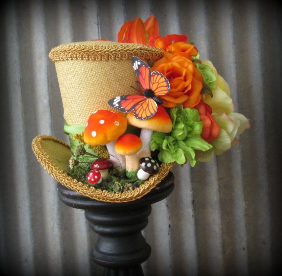The Caterpillar Mini Top Hat from Alice in Wonderland, Mini Top Hat, Tea Party Hat, Mad Hatter Hat, Kentucky Derby Hat, Garden party