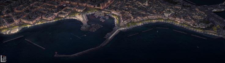 Landscape Visualization realized for Arriola & Fiol arquitectes - Bari waterfront regeneration.