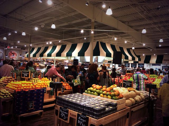 The new Fresh Market in midtown opened to the public at 8 a.m. this morning, and I was there for the cracking of the cheese.