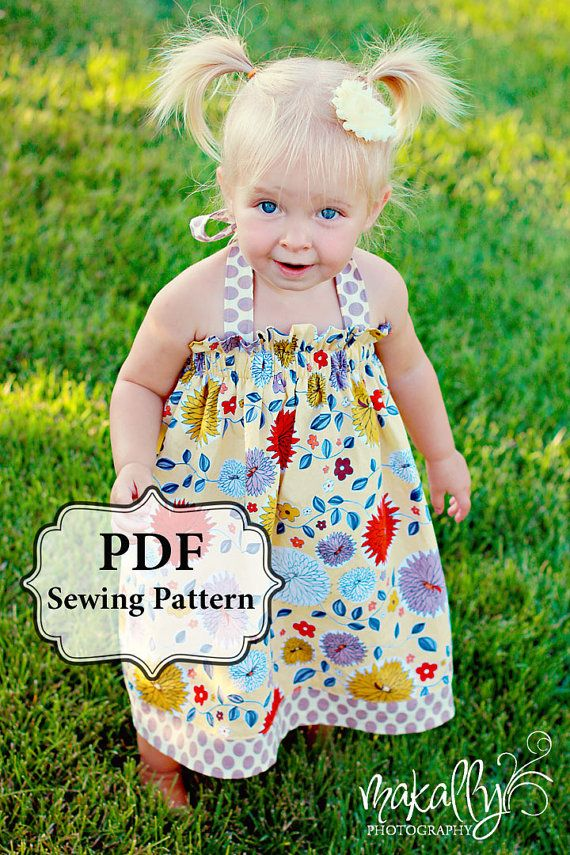 PDF Easy Halter Dress/Top Sewing Pattern Dress Sizes 3m-5T or Girls Top Sizes 5-11