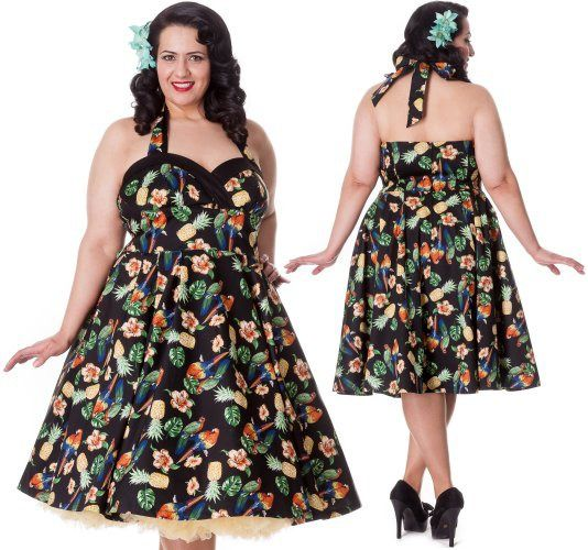 Sassy Tropical 50's dress - has arrived at Sweet Echo - www.sweetechoplus.com