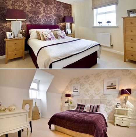 Decorating a bedroom? Using a shade of purple can bring a restful feel and sophisticated finish, as demonstrated here by our Pinkerton show home at Aspen Park in Apsley.