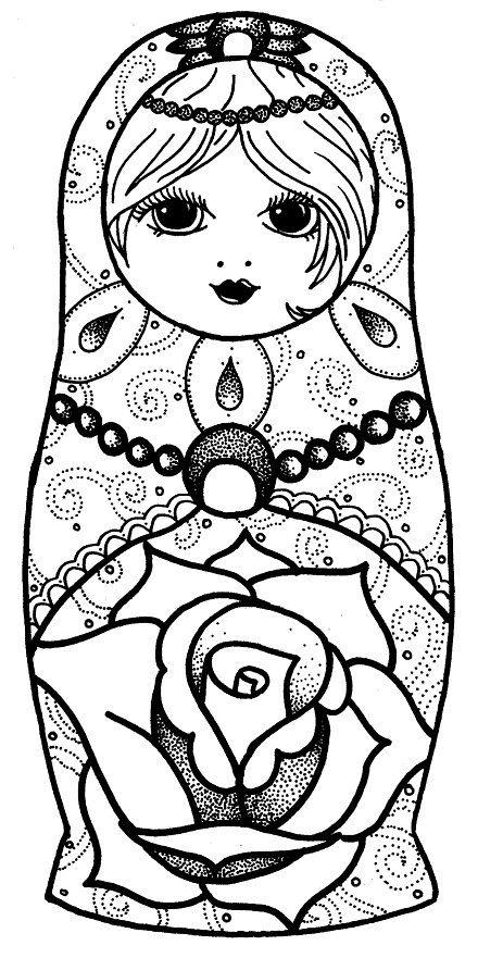 babushka coloring pages - photo#7