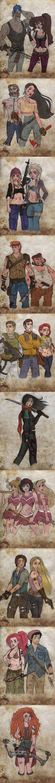 Y ahora las princesitas de Disney como verdaderas supervivientes del apocalipsis zombie!!!!!