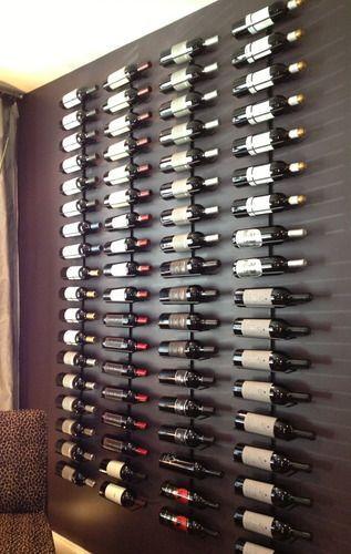Amazon.com: True Fabrications Wall Mount Wine Rack (Holds 9 Bottles): Kitchen & Dining