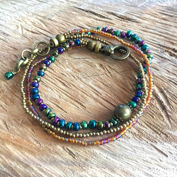 green anklet chic body jewelry colorful boho anklet glass beads ankle bracelet Anklet green iridescent