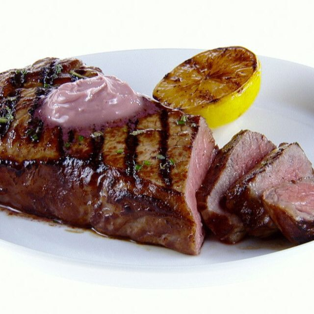NY Strip Steak with Red Wine-Rosemary Butter By Giada De Laurentiis