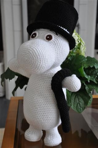 Moomin  PDF crochet pattern by Fjukten on Etsy, $6.20