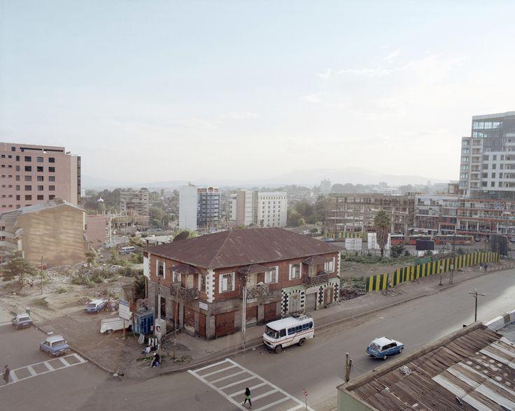 Anna Positano, Addis Abeba, 2013. Qui sopra: Una casa italiana sopravvissuta in Piazza, vicino a Churchill Avenue. le baracche sono state demolite per permettere nuove costruzioni #photography