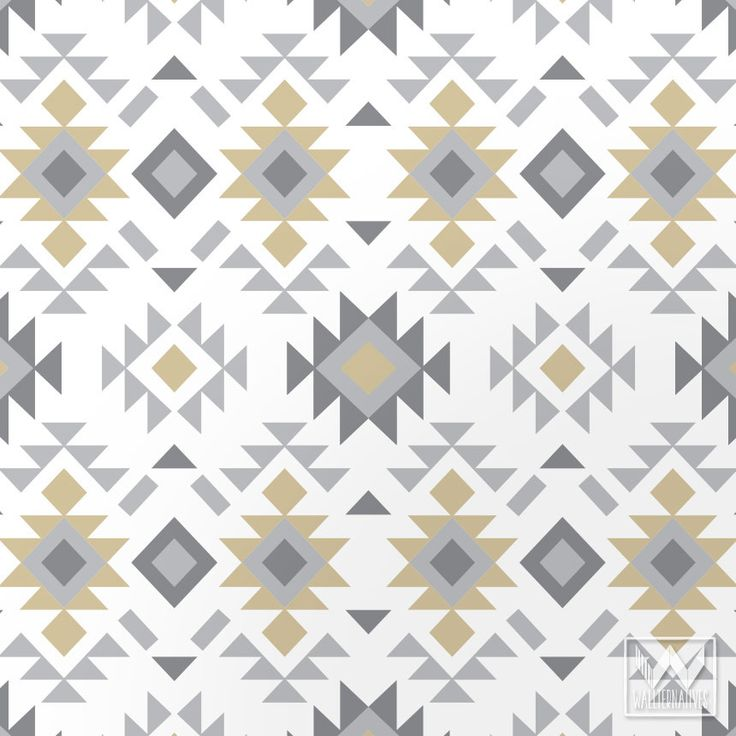 Tribal Aztec Print Pattern Removable Wallpaper DIY Decor | Wallternatives