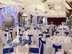 noeuds chaise satin bleu roi electrique decoration chaises mariage ...