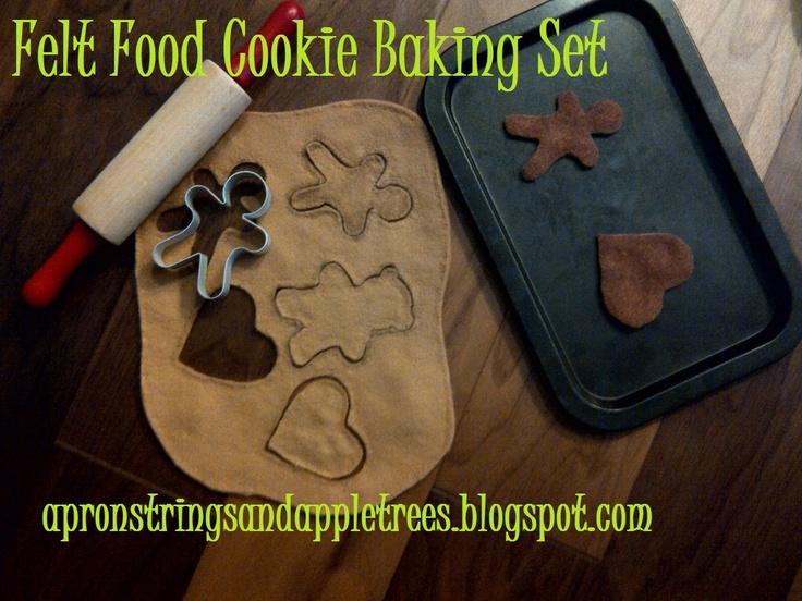 Felt Food: Cookie Baking Set: Felt Play Food, Cookie Baking, Felt Foods, Felt Cookies, Pretend Play, Crafts Painting, Kids Toys