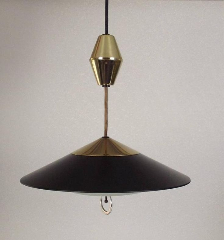 Vintage Mid Century Modern Retractable Pull Down Ceiling