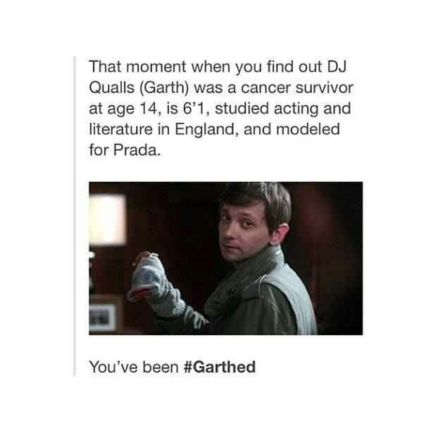 """You've been Garthed"" I didn't think I could love him anymore, but I do. Where's my Supernatural spinoff starring him?!"