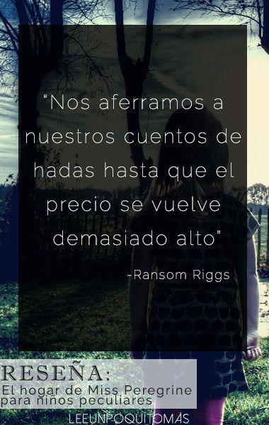 Reseña del libro El hogar de Miss Peregrine para niños peculiares. Lee Un Poquito Más http://leeunpoquitomas.blogspot.com