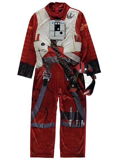 Star Wars X- Wing Fighter Pilot Fancy Dress Costume | Kids | George at ASDA