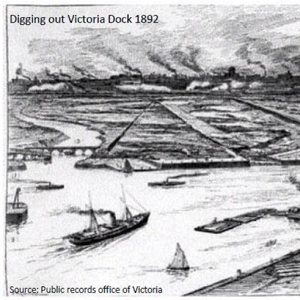 Victoria Harbour in the 1800's.