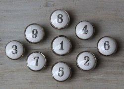 Chic Antique / Porcelánová úchytka Number