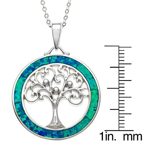 Sterling-Silver-Tree-of-Life-Created-Blue-Opal-Circle-Pendant-with-18-Chain