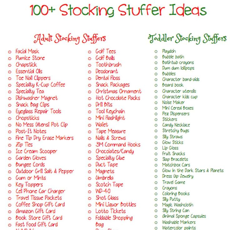 Easy useful stocking stuffer ideas for adults santa 39 s Unique stocking stuffers adults