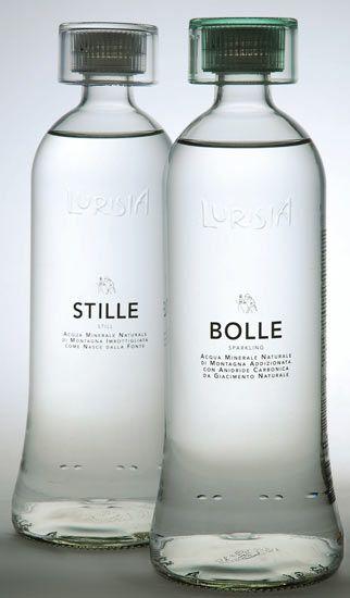 Bottiglie Vetro Design packaging canale Horeca Acqua Minerale Lurisia Stile e Bolle