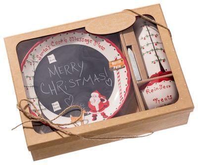 Child to Cherish Santa's Message Chalkboard Plate Set