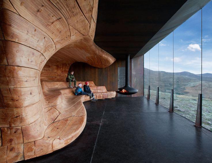 Tverrfjellhytta. Norwegian Wild Reindeer Centre Pavilion