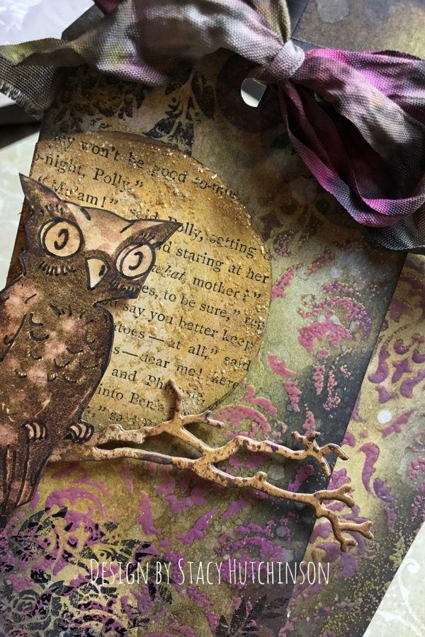 Tim Holtz Distress Inks Distress Oxide Halloween Owl