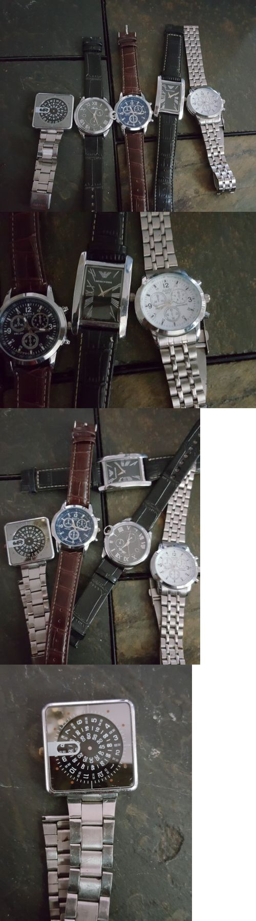 Watches for Parts 165144: Lot Of Five (5)Men S Brand Named Watches.... -> BUY IT NOW ONLY: $60 on eBay!