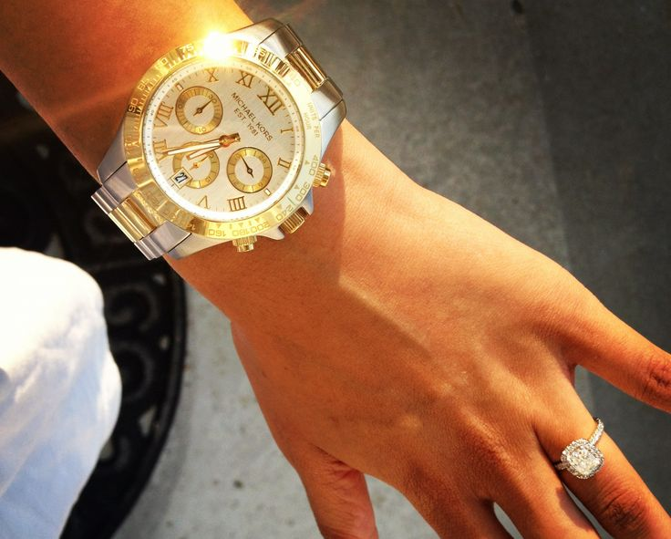 Silver and gold Michael Kors watch
