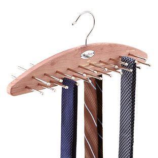 For necklaces ~ Cedar 42-Peg Tie Hanger