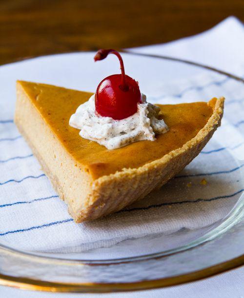 5-Ingredient Vegan Pumpkin Cheesecake