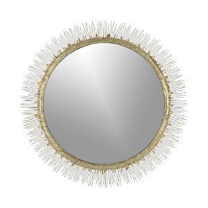 clarendon brass large round wall mirror