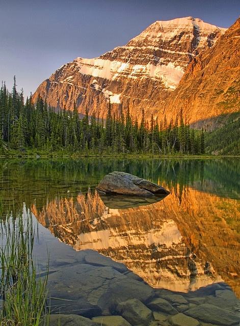 Perfect Calm (Mount Edith Cavell, Jasper National Park, Alberta) by Matt Champlin on Flickr