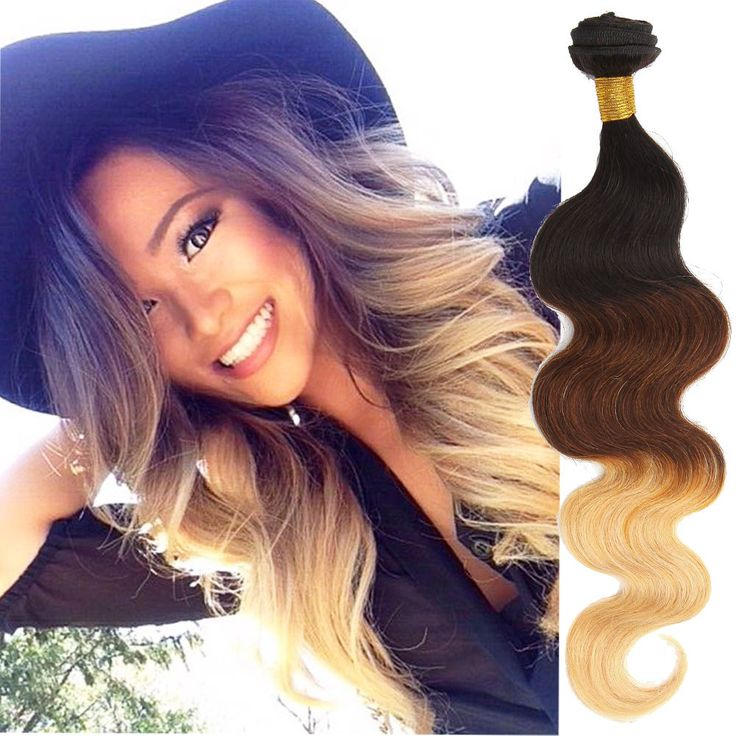Details about 150g 1b33#27# Human Hair Extensions Ombre Body Wave Wefts,,3Bundles Best Quality