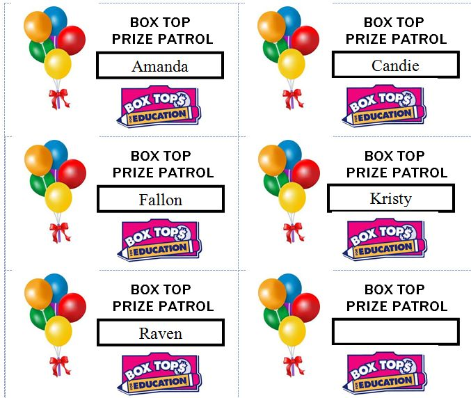 make your own Box Top Badges