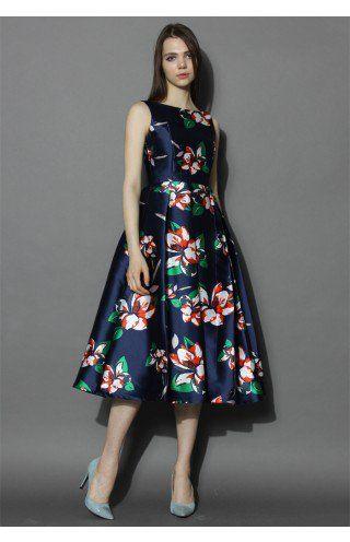 Romantic Era Floral Prom Dress - Dress - Retro, Indie and Unique Fashion