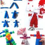 Rag dolls with rubber bands without sewing