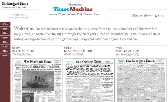 read old newspapers online