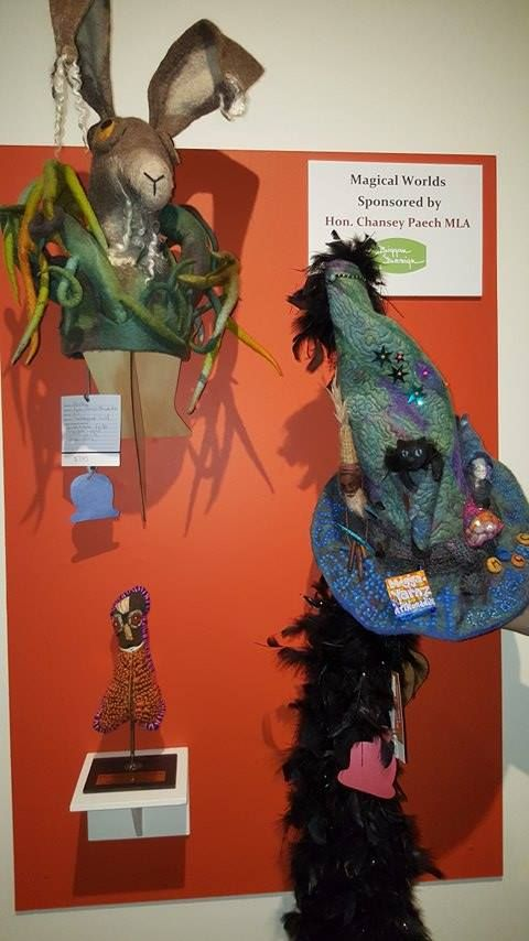 """My Earth Magic Wizardry, First prize, """"Magical Worlds' Beaniefest 2017 and Sue Smorthwaite's 'Pooky' Special Mention"""